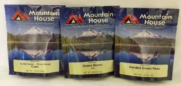 3 Mountain House Corn Green Beans Pea Pouch Freeze Dried Camping Hiking Survival