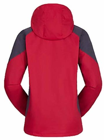 AbelWay Women s Mountain Waterproof Windproof Fleece 3 in 1 Jacket Ski  Hooded Rain Coat(Red 308302915