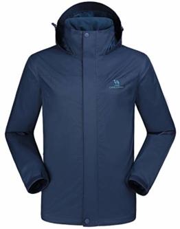 CAMEL CROWN Mens Waterproof Jacket Hooded Windbreaker Windproof Rain Coat for Outdoor Hiking Climbing Traveling Traveling Navy Blue S - 1