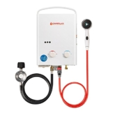 Camplux 5L 1.32 GPM Outdoor Portable Propane Tankless Water Heater - 1