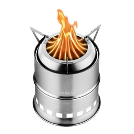 Canway Camping Stove, Wood Stove/Backpacking Stove,Portable Stainless Steel Wood Burning Stove Nylon Carry Bag Outdoor Backpacking Hiking Traveling Picnic BBQ - 1