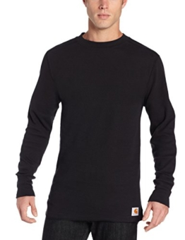 Carhartt Men's Base Force Wicking Cotton Super Cold Weather Crew Neck Top,Black,XX-Large - 1