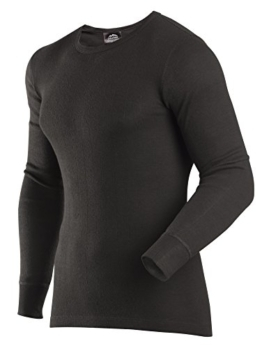ColdPruf Men's Enthusiast Single Layer Long Sleeve Crew Neck Base Layer Top, Black, Medium - 1