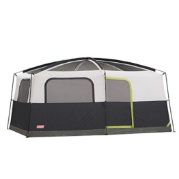 Coleman Prairie Breeze 9-Person Cabin Tent, Black and Grey Finish - 1