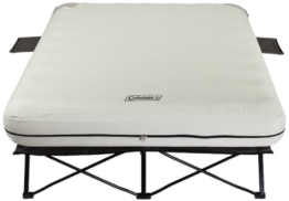 Coleman Queen Airbed Folding Cot with Side Tables and 4D Battery Pump - 1