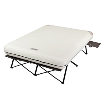 Coleman Queen Airbed Folding Cot with Side Tables and 4D Battery Pump - 2