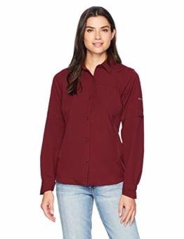 Columbia Silver Ridge Long Sleeve Shirt, Medium, Rich Wine - 1