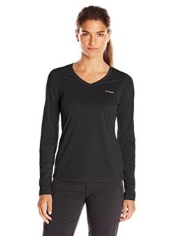 Columbia Women's Tech Trek Long Sleeve Shirt, Black, Large - 1