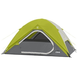 CORE Equipment 4 Person Instant Dome Tent - 9' x 7', Green - 1