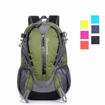 buy popular b0bd4 32257 Daxvens Day Hiking Backpack with Chest Wasit Strap for Men Women Youth, 25L  Small Lightweight Water-Resistant Daypack Carry-On Camping Climbing ...