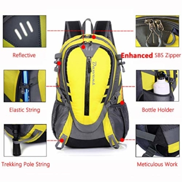 0c978459f8ef Daxvens Day Hiking Backpack with Chest Wasit Strap for Men Women Youth, 25L  Small Lightweight Water-Resistant Daypack Carry-On Camping Climbing ...