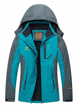 Diamond Candy Rain Jacket Women Hooded Lightweight Softshell Hiking Waterproof Coat - 1