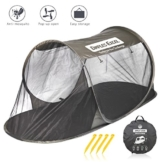 Dimples Excel Single Instant Pop Up Mosquito Net Automatic Self-expanding Tent for Outdoor, Beach, Hiking, Traveling, Backyard, Backpacking (Automatic tent - army green) - 1