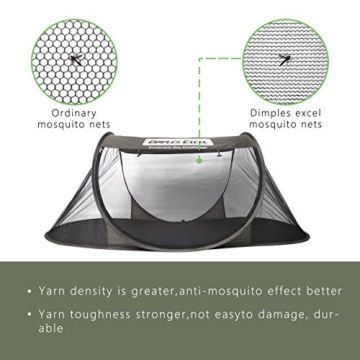 Dimples Excel Single Instant Pop Up Mosquito Net Automatic Self-expanding Tent for Outdoor, Beach, Hiking, Traveling, Backyard, Backpacking (Automatic tent - army green) - 4