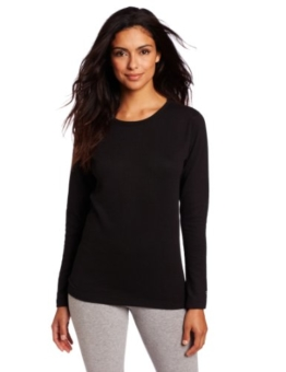Duofold Women's Mid Weight Wicking Thermal Shirt, Black, Small - 1