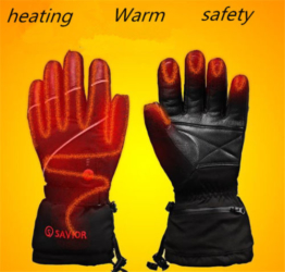 Electric Heated Gloves Li-ion Battery Thermal Warm Gloves For Skiing Hiking Men