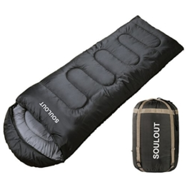 Envelope Sleeping Bag - 4 Seasons Warm Cold Weather Lightweight, Portable, Waterproof With Compression Sack for Adults & Kids - Indoor & Outdoor Activities: Traveling, Camping, Backpacking, Hiking - 1