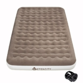 """Etekcity Camping Air Mattress Inflatable Single High Airbed Blow up Bed Tent Mattress with Rechargeable Air Pump, Height 9"""", Queen Size - 1"""