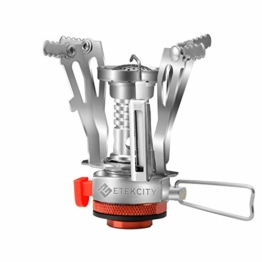 Etekcity Ultralight Portable Outdoor Backpacking Camping Stove with Piezo Ignition - 1