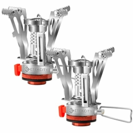 Etekcity Ultralight Portable Outdoor Backpacking Camping Stoves with Piezo Ignition (2pack) - 1