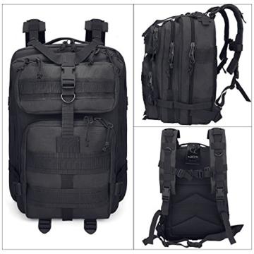 G4Free Sport Outdoor military backpack tactical backpack molle backpack military rucksack Camping Hiking Trekking Bag Custom Design 40L (Black) - 3