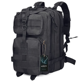 G4Free Sport Outdoor military backpack tactical backpack molle backpack military rucksack Camping Hiking Trekking Bag Custom Design 40L (Black) - 1