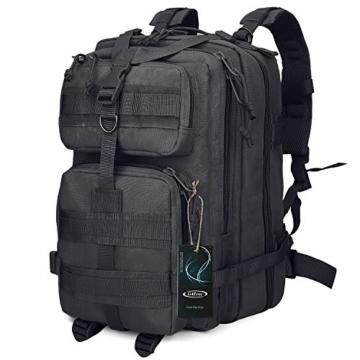 G4Free Sport Outdoor military backpack tactical backpack molle backpack military rucksack Camping Hiking Trekking Bag Custom Design 40L (Black) - 1