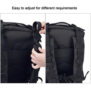 G4Free Sport Outdoor military backpack tactical backpack molle backpack military rucksack Camping Hiking Trekking Bag Custom Design 40L (Black) - 6
