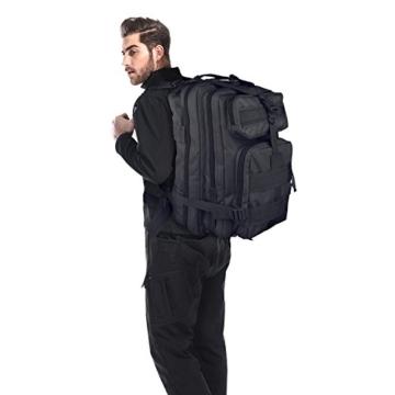 G4Free Sport Outdoor military backpack tactical backpack molle backpack military rucksack Camping Hiking Trekking Bag Custom Design 40L (Black) - 8
