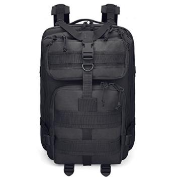 G4Free Sport Outdoor military backpack tactical backpack molle backpack military rucksack Camping Hiking Trekking Bag Custom Design 40L (Black) - 9