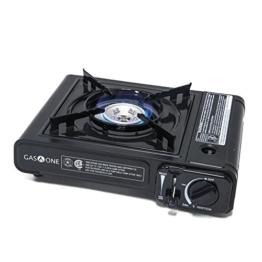 Gas ONE GS-1000 7,650 BTU Portable Butane Gas Stove Automatic Ignition Carrying Case, CSA Listed (Stove) - 1