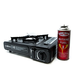 GAS ONE GS-3000 Portable Gas Stove with Carrying Case, 9,000 BTU, CSA Approved, Black - 1