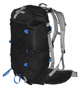 GoBackTrail Roll Top Black Backpack - Ultralight 25L - 40L with Removable Internal Frame – Always The Right Size - Water Resistant – Comfortable for Men and Women When Walking, Trekking and Hiking - 1