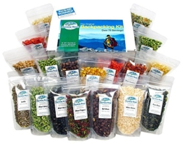 Harmony House Foods, The Backpacking Kit, 18 Count, 1 Cup Zip Pouches - 1