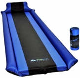 IFORREST Sleeping Pad with Armrest & Pillow – Never let Your Arms & Feet Feel The Ground - Comfortable Self-Inflating Air Mattress for Camping, Hiking, Traveling and Backpacking! - 1