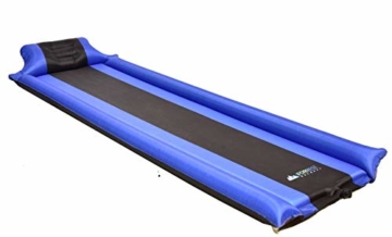 IFORREST Sleeping Pad with Armrest & Pillow – Never let Your Arms & Feet Feel The Ground - Comfortable Self-Inflating Air Mattress for Camping, Hiking, Traveling and Backpacking! - 8