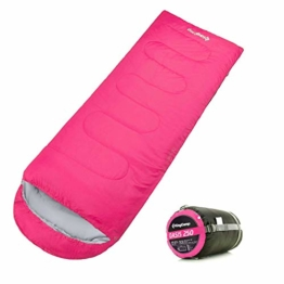 KingCamp Envelope Sleeping Bag 3 Season Lightweight Comfort with Compression Sack Camping Backpack Temp Rating 26F/-3C - 1