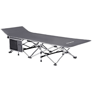 KingCamp Strong Stable Folding Camping Bed Cot Carry Bag (Grey Side Pocket) - 1