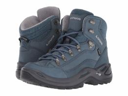 Lowa Renegade GTX(r) Mid (Gray/Blue) Women's Hiking Boots