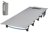 MARCHWAY Ultralight Folding Tent Camping Cot Bed, Portable Compact for Outdoor Travel, Base Camp, Hiking, Mountaineering, Lightweight Backpacking (Grey) - 1