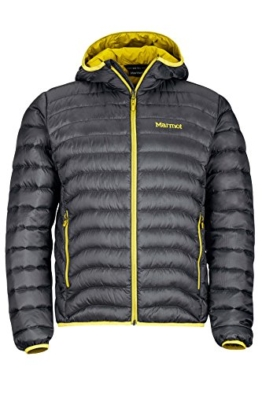 Marmot Tullus Hoody Men's Winter Puffer Jacket, Fill Power 600, Slate Grey, Medium - 1