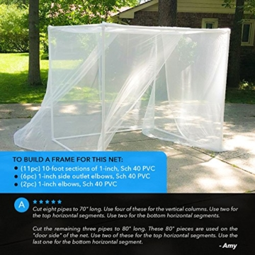 MEKKAPRO Ultra Large Mosquito Net and Insect Repellent by Large Two Openings Netting Curtains | Prevent Malaria Zika West Nile Viruses | Camping, Bedding, Patio | Carrying Pouch and Hanging Kit - 5