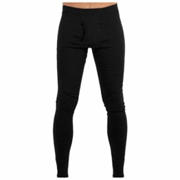MERIWOOL Men's Merino Wool Midweight Baselayer Bottom - Black/S - 1