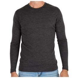 MERIWOOL Men's Merino Wool Midweight Baselayer Crew - Charcoal Gray/M - 1