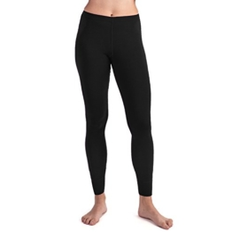MERIWOOL Women's Merino Wool Midweight Baselayer Bottom - Black/L - 1