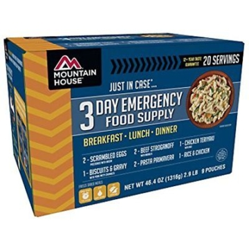Mountain House 3-Day Emergency Food Supply Kit Freeze-Dried Camp Kitchen Hiking