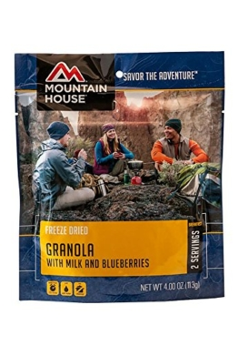Mountain House Granola with Milk and Blueberries - 1