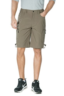 Nonwe Men's Quick Dry Walk Shorts 5005 Khaki S - 1