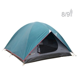 NTK Cherokee GT 8 to 9 Person 10 by 12 Foot Outdoor Dome Family Camping Tent 100% Waterproof 2500mm, Easy Assembly, Durable Fabric Full Coverage Rainfly - Micro Mosquito Mesh for Maximum Comfort. - 1