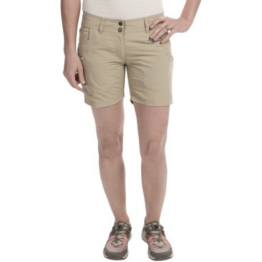 NWT EXOFFICIO Nomad shorts 2 women's khaki water resistant hiking climbing UPF